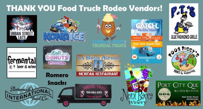 Food Truck Logos green background
